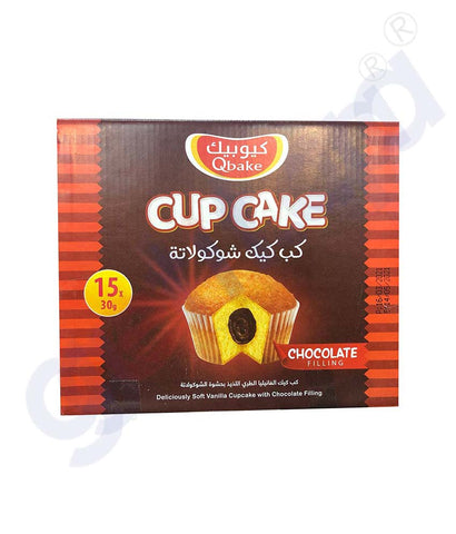 QBAKE CUP CAKE CHOCOLATE 15 PCS 450G