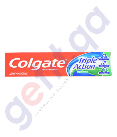 Buy Colgate Triple Action Original Mint 125ml in Doha Qatar