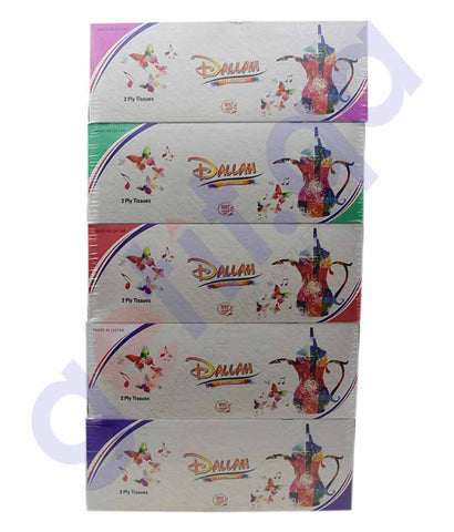 Buy Dallah Tissue 200s 2Ply 5Pcs Price Online in Doha Qatar