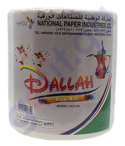 Buy Dallah M-Tork 1Ply Embossed 250m Price Online Doha Qatar