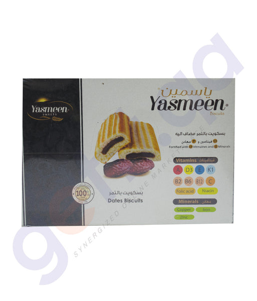 YASMEEN DATES BISCUIT WITH VITAMEINS 12*40 GM