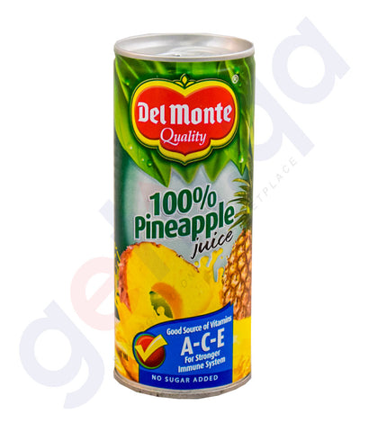 Buy Delmonte 100% Pineapple Juice 240ml Online Doha Qatar