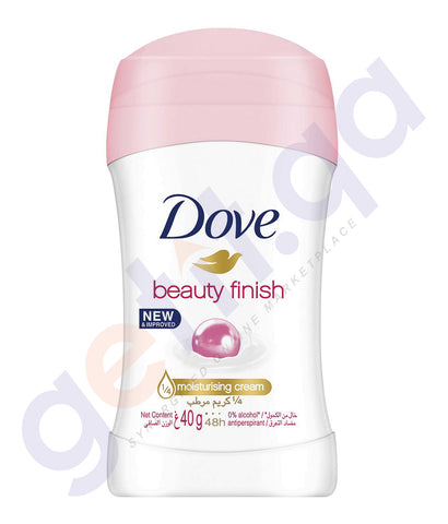 BUY DOVE 40GM BEAUTY FINISH DEODORANT STICK ONLINE IN QATAR