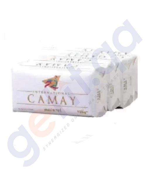 BUY CAMAY NATURAL SOAP 125GM - 4 SET PACK ONLINE IN QATAR