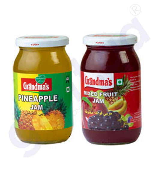 Buy Grandma's Pineapple+Mixed Fruit Jam 350gm in Doha Qatar