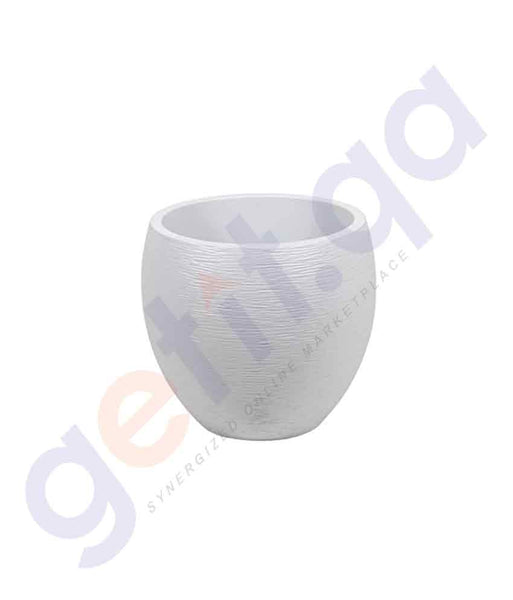 BUY EDA EGG GRAPHIT 50X60CM GARDENING POT WHITE ONLINE IN QATAR