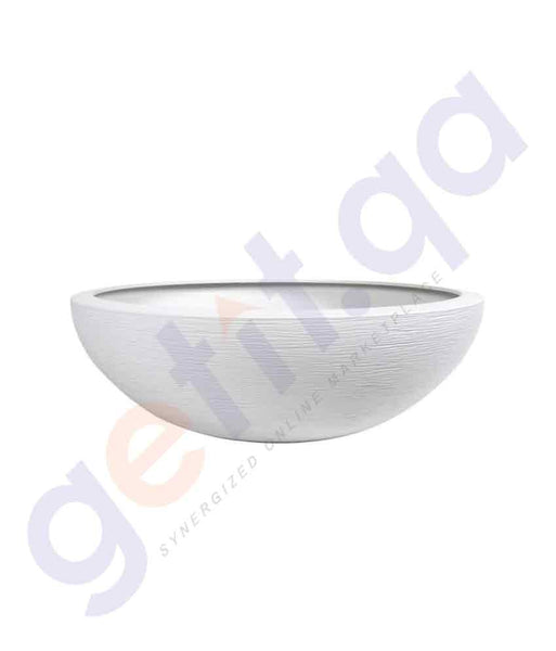 BUY EDA GRAPHIT 59CM GARDENING BOWL WHITE ONLINE IN QATAR