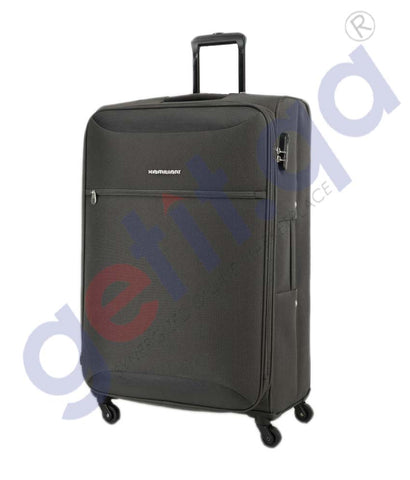 GETIT.QA | Buy Kamiliant Zaka Soft Trolley Small 56 CM-Grey Doha Qatar