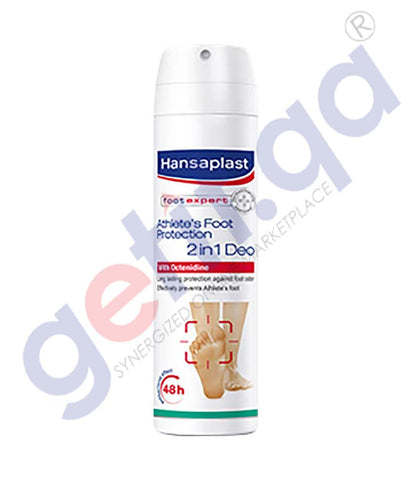 GETIT.QA | Buy Hansaplast Foot Protection 2 in 1 Spray 150ml Doha Qatar