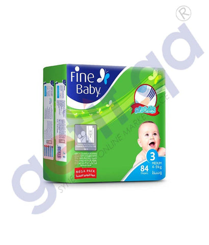 GETIT.QA | Buy Fine Baby Diaper Megapack Medium 84 Diapers Doha Qatar