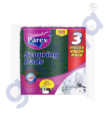 GETIT.QA | Buy Parex Scouring Pad 3Pcs Value Pack Online in Doha Qatar