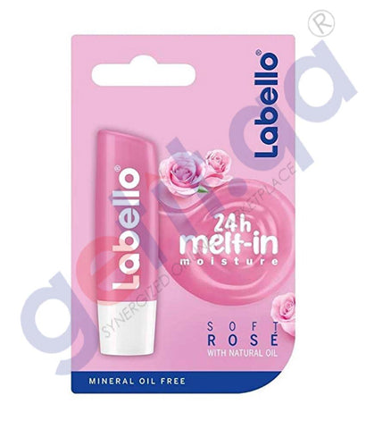 GETIT.QA | Buy Labello Soft Rose with Natural Oil 4.8gm in Doha Qatar