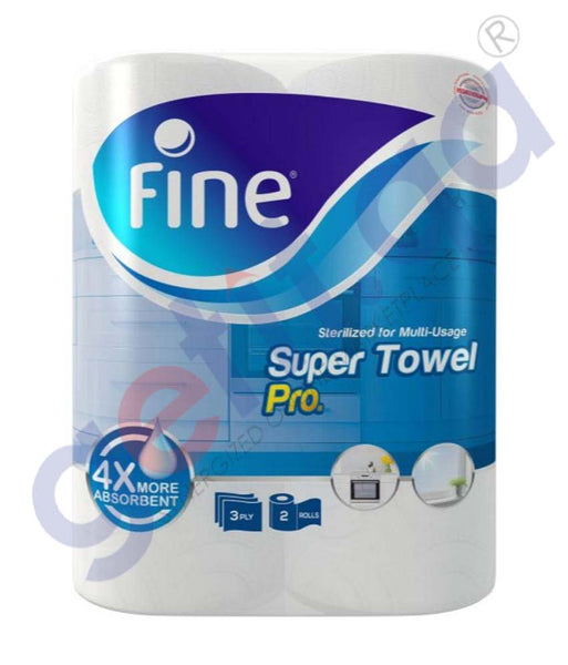 GETIT.QA | Buy Fine Super Pro Kitchen Towel 2 Rolls 3ply Online Doha Qatar