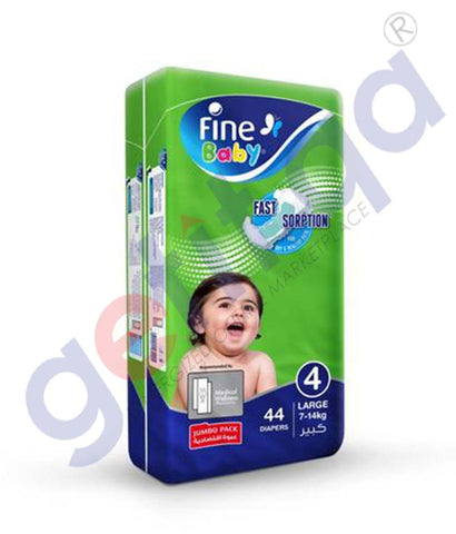 GETIT.QA | Buy Fine Baby Diaper Jumbo Pack Large 44 Diapers Doha Qatar