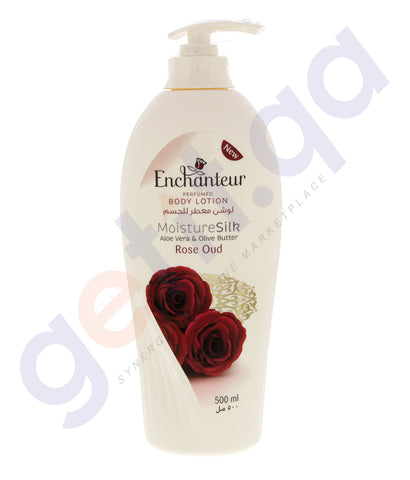 BUY ENCHANTEUR 500ML ROSE OUD BODY LOTION ONLINE IN QATAR
