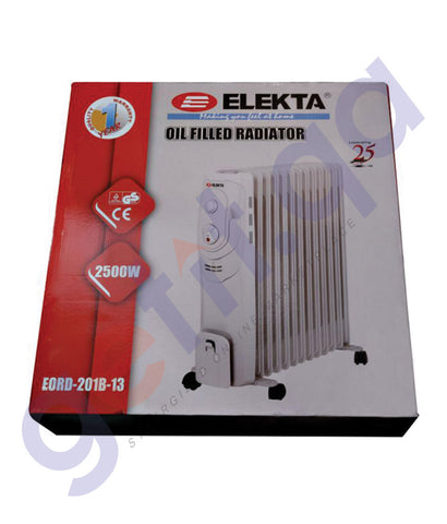 BUY ELEKTA 13 FINS OIL RADIATOR HEATER-EORD-201B-13 IN QATAR