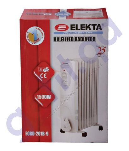 BUY ELEKTA 9 FINS OIL RADIATOR HEATER- EORD-201B-9 IN QATAR