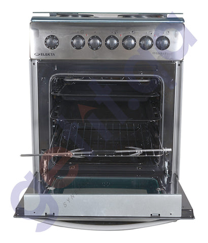 BUY ELEKTA ELECTRIC OVEN WITH 4 ELECTRIC HOTPLATES, HALF INOX IN QATAR