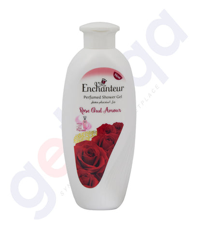 BUY ENCHANTEUR 250ML ROSE OUD AMOUR SHOWER GEL ONLINE IN QATAR