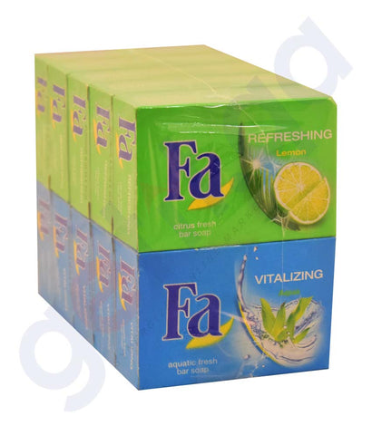 Buy Fa Bath Soaps 10*90gm Offer Price Online in Qatar