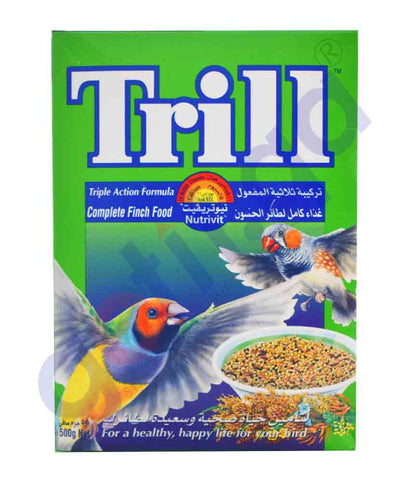 TRILL NUTRIVIT COMPLETE FINCH FOOD 500GM