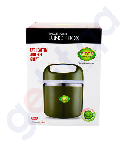 Buy Gitco Single Layer Lunch Box LB007 Online in Doha Qatar