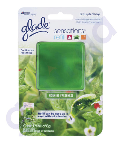 BUY GLADE SENSATIONS MORNING FRESHNESS REFILL 8GM IN QATAR