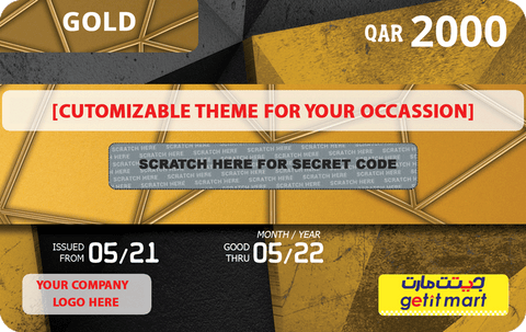 Buy GETIT.QA's Corporate Gold Gift Card in Doha Qatar