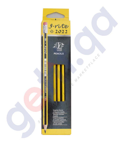 I-RITE PENCIL WITH ERASER 12HB 2022