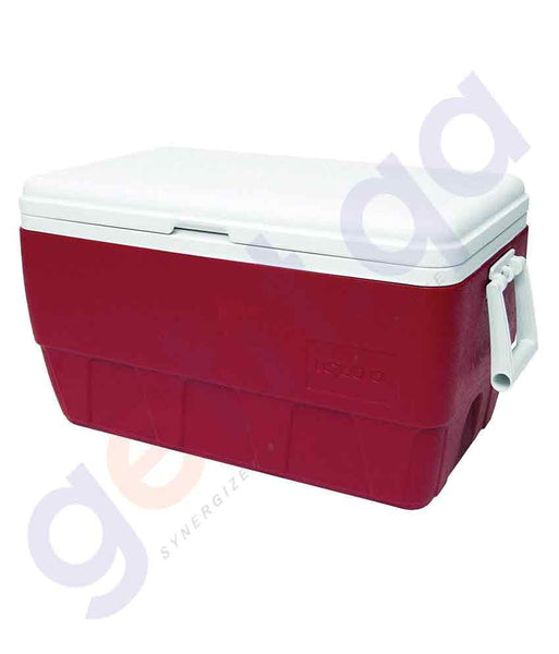 BUY IGLOO 52 QUARTS- DIABLO RED-  FAMILY COOLER IN QATAR