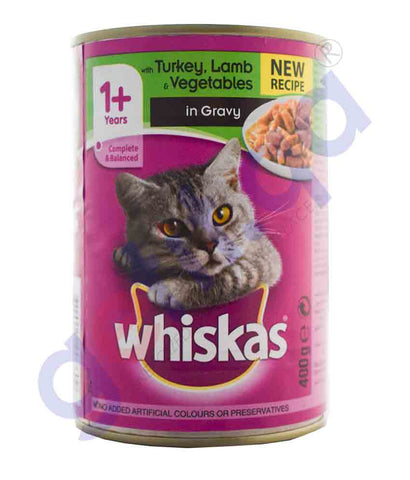 WHISKAS TURKEY LAMB & VEGETABLE 400GM