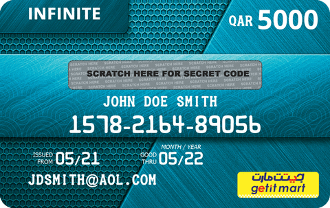 GETIT.QA's INFINITE GIFT CARD