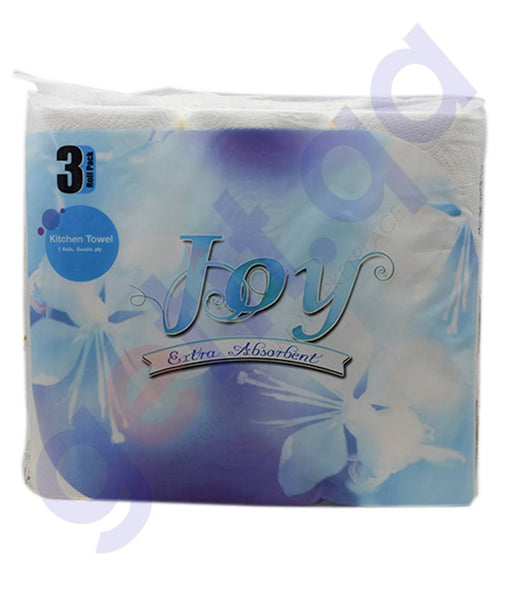 Buy Joy Kitchen Roll 2Ply Embossed 3pcs Price in Doha Qatar