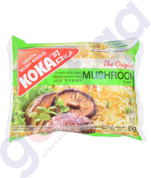 BUY BEST PRICED KOKA M/PACK NOODLES MUSHROOM 85GM IN QATAR