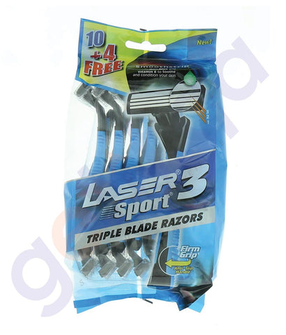 BUY LASER SPORT3 10+4 TRIPLE PACK REGULAR ONLINE IN QATAR