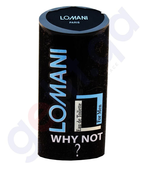 Buy Lomani Why Not? EDT for Men 100ml Online in Doha Qatar