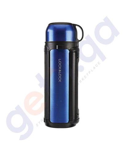BUY LOCK & LOCK 1.8L STAINLESS STEEL HOT TANK BLUE ONLINE IN QATAR