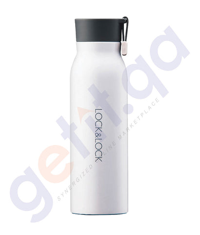 BUY LOCK & LOCK 500ML NAME TUMBLER - WHITE ONLINE IN QATAR