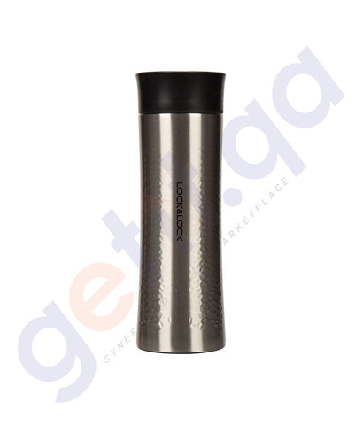 BUY LOCK & LOCK 400ML STAINLESS STEEL DIAMOND TUMBLER - BLACK IN QATAR
