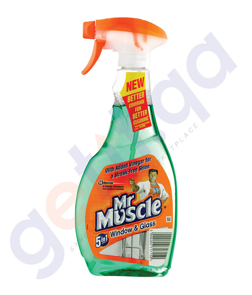 BUY MR MUSCLE WINDOW & GLASS CLEANER 500ML ONLINE IN QATAR