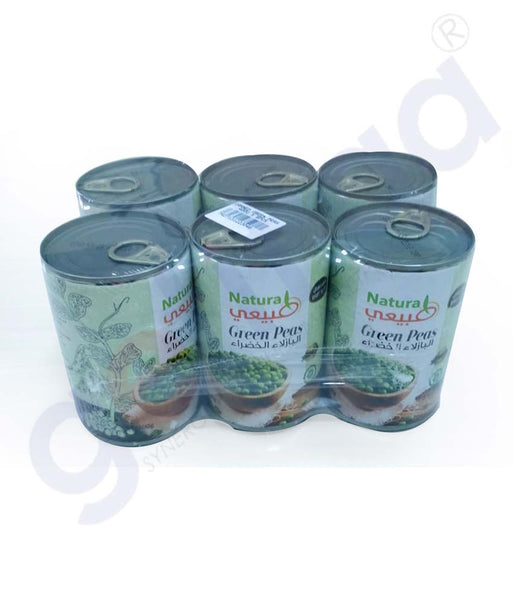 Buy Natural Canned Green Peas 400gX6 Online Doha Qatar