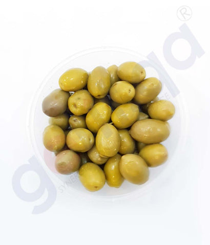 Buy Olive Whole Green Hutesa 1kg Price Online in Doha Qatar
