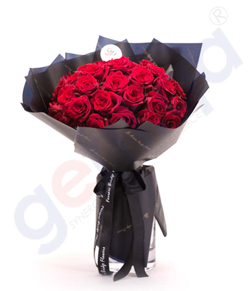 Buy Le Rouge 35 Hand Bouquet Price Online in Doha Qatar