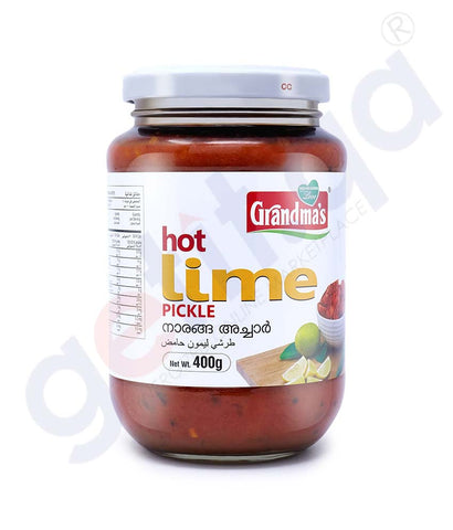 Buy Grandma's Hot Lime Pickle 400g Price Online Doha Qatar