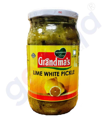 Buy Grandma's Lime White Pickle 400g Online Doha Qatar