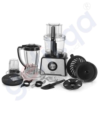 Buy Black & Decker 800w Food Processor W/Grinder Doha Qatar