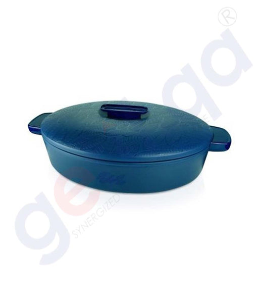 Buy Enjoy Ater Oval Insulated Server 2.8L Blue Doha Qatar