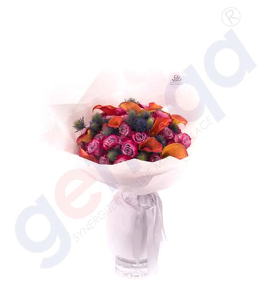 Buy Les Violettes Hand Bouquet Price Online in Doha Qatar