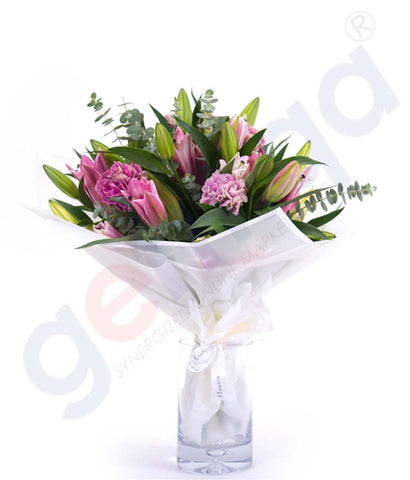 Buy Fleur-de Lys en Rose Hand Bouquet Online in Doha Qatar