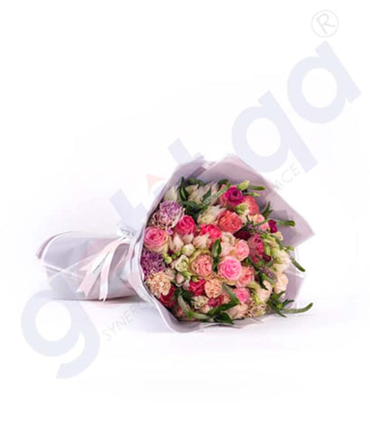 Buy Premiere En Rose Hand Bouquet Price Online Doha Qatar